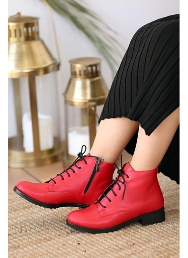 Pembe Potin A960-20Kırmızı Kırmızı Kadın bot Kırmızı